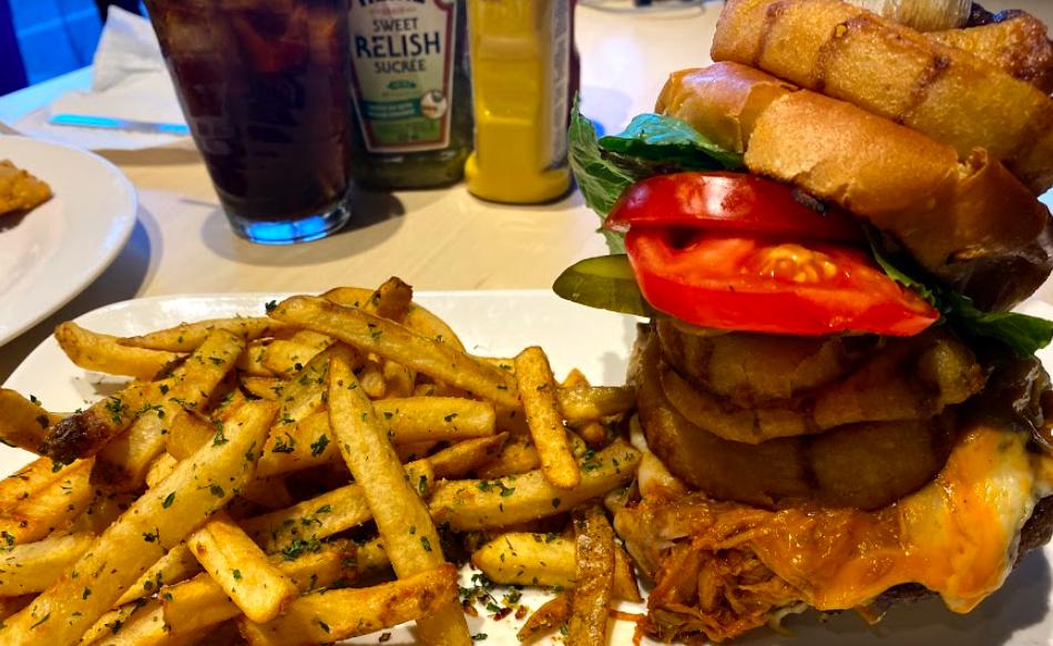 Best burger in Owen Sound - the Jazzmyn's Monster Burger